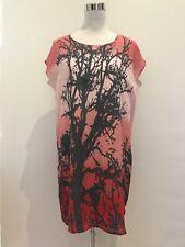 DECJUBA Ladies Pink/Orange Dress Women's Size 8 Silk
