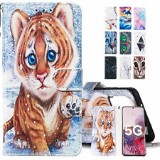 For Samsung Galaxy S20//A51/A71/A01 Marble Leather Wallet Flip Card Case Cover