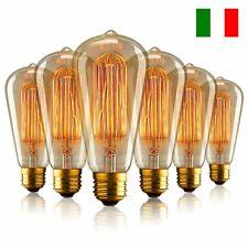 10pz Lampadina LED E27 E26 40W Lampada Vintage Retro Edison Filamento Luce Bulb