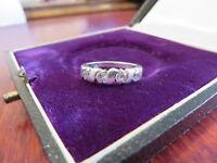 925 Sterling Silber Ring Zirkonia Wellen Schmal Bezaubernd Anziehend Weiblich