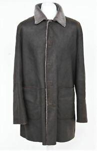 ARMANI COLLEZIONI Men's Dark Brown Long Sleeve Sheepskin Jacket IT52 UK48