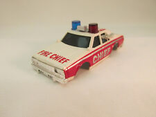 AURORA AFX #1979 WHT/RED/SILV #FD-11 CHEVY PURSUIT FIRE CHIEF'S CAR SHELL ~ NOS