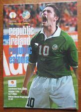 2001 Republic of Ireland v Republic of Estonia - World Cup Qualifier Programme