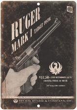 "Strum Ruger & Company Mark I Target Pistol 10"" x 7"" Reproduction Metal Sign"