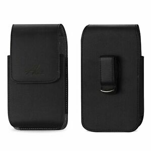 AGOZ Vertical Leather Swivel Belt Clip Case for Phone With Mophie Juice Pack on