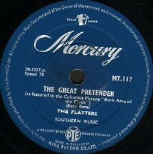 """THE PLATTERS the great pretender/only you MT 117 uk mercury 10"""" 78 rpm"""