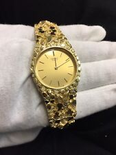Bracelet Vintage Estate Timepiece 78g Nr 14K Solid Gold Yellow 585 Nugget Watch