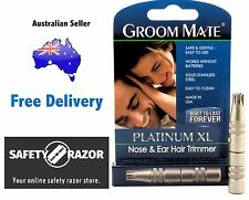 PLATINUM GROOM MATE NOSE AND EAR HAIR TRIMMER. Free Toll DX Express Delivery