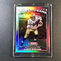 AARON RODGERS 2009 TOPPS KICKOFF #SG6 STARS OF THE HOLOFOIL REFRACTOR LIKE CARD