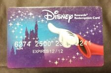 Chase Disney Rewards Redemption Card Mickey Mouse Used No Cash Value