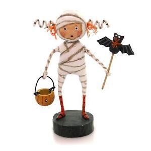 "MINNIE MUMMY Whimsical Halloween Figurine 5.25"" Tall, Lori Mitchell, by ESC"