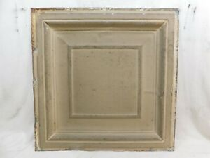 "Antique 1800's 24"" x 24"" TIN CEILING Tile VICTORIAN Framed Design ORNATE"