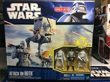 Star Wars Attack On Hoth with AT-ST and 3 Figures - 2010 Target Exclusive