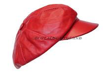 Victorian Peaky Blinders Red Men Baker Boy Newsboy Gatsby Leather Flat Cap Hat