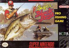 Super Black Bass [Nintendo Super SNES, Pro Fishing, NTSC Cartridge, Retro] NEW