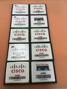 Lot of 10 20 Cisco 32MB 64MB Compact Flash Memory Card for 1841 2801 2811 2821