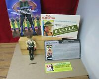 Vintage 1986 GI Joe Sgt Slaughter Action Figure Baton File Card & Mail-in Papers