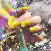 24PCS Glitter Mirror Fake Nail Full Finished Nails Art Tip False Sticker Decor