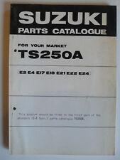 Parts Catalogue - Suzuki TM 250 A E2, 5.1975, english, Original