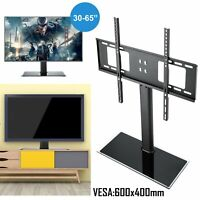 PERLESMITH Universal TV Stand - Table Top TV Stand for 37-55 inch LCD LED TVs