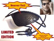 Genuine Handmade Tanned Beaver Tail, LIMITED EDITION EYE PATCH (BEST SELLER)