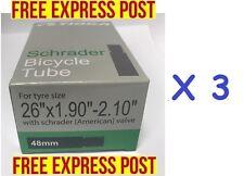 (S) 3 x TIOGA Bike Tube 26 X 1.9 - 2.1 Schrader valve MTB/ hybrid TOP QUALITY