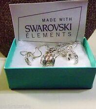 SWARVOSKI ELEMENTS CRYSTALS WHITE and ROSE GOLD TONE TRIO SET - NIB