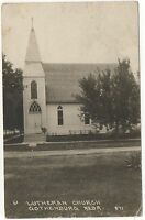 RPPC Lutheran Church GOTHENBURG NE Vintage 1922 Nebraska Real Photo Postcard