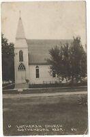 RPPC Lutheran Church GOTHENBURG NE Vintage 1922 Nebraska Real Photo Postcard