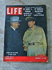 Life Magazine, February 13, 1956 - Truman and MacArthur, Olympic Games & Skiing