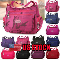US Women Multi Pocket Messenger Cross Body Handbag Ladies Hobo Bags Shoulder Bag