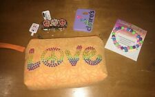 Claire's Peace Love Wallet Bag Wristlet Earring Jewelry Lot Nwt