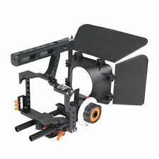 Film Movie Making Rig Camera Video Cage Kit Follow Focus & Matte Box for Sony A7