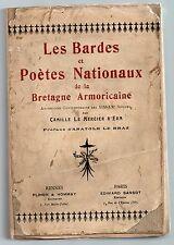 BRETAGNE CAMILLE LE MERCIER D'ERM LES BARDES ET POETES NATIONAUX 1918 EO