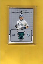 2002 UPPER DECK ULTIMATE COLLECTION ULTIMATE 3 COLOR PATCHES ICHIRO P-IS
