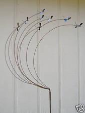 NEW METAL YARD ART SCULPTURE WITH FLOCK OF DRAGONFLIES