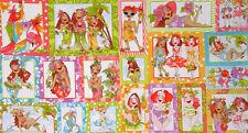 Loralie Hula Girls Island Tropical Hawaii Paradise Ladies Cotton Fabric PANEL