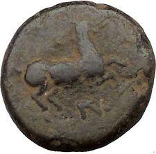 Maroneia in Thrace 400BC Original Ancient Greek Coin Horse Vine Grapes  i37002