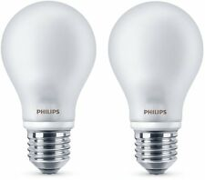 Philips  2 Lampadine Led Classic A60 E27, Bianco Caldo, 7 Watts = 60W