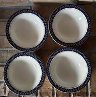 """Set of 4 Mikasa Aztec Blue Cereal Bowls 6 3/4"""" Potters Touch"""