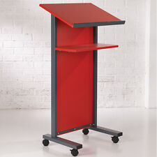 More details for red panel front lectern