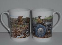 BN Boxed Grey Fergie Ploughing Mug,  China Mug, Vintage Ferguson Tractor Mug,
