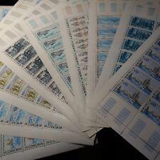 FEUILLE SHEET MONACO N°1103/1111 x30 LA CARRIÈRE D'UN NAVIGATEUR 1977 COTE 525€