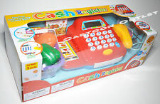 TOY CASH REGISTER GIRLS TOY CALCULATOR KEYPAD SHOPPING BASKET LIGHTS SOUND NIP