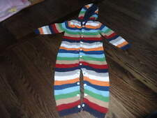 BABY GAP 18-24 STRIPED SWEATER STYLE OUTFIT HOODIE