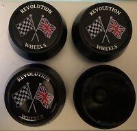 Genuine Revolution Classic Alloy Wheel Center Centre Caps Mini Ford Lotus