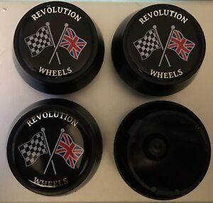 4 x Genuine Revolution Classic Alloy Wheel Center Centre Caps Mini Ford Lotus