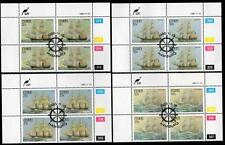 CISKEI 1985 USED CTO TROOP SHIP SET BLOCKS OF 4