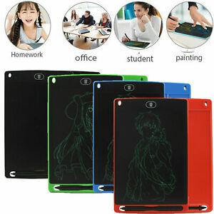 "UK 8.5""LCD Pad eWriter Kids Painting Drawing Tablet Digital Board Magic Pen Gift"