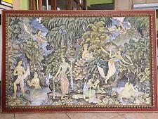 "Huge M.D. Sutopa Bali Art Original Acrylic on Canvas, Signed, 56"" x 35"" (Image)"